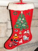 Vintage Beaded Stocking