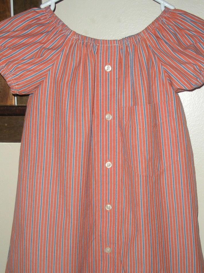 Upcycled girls peasant dress