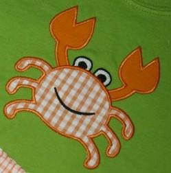 Appliqued crab shirt