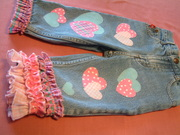 repurposed jeans with hearts galore