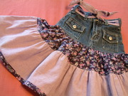repurposed jeans twirls