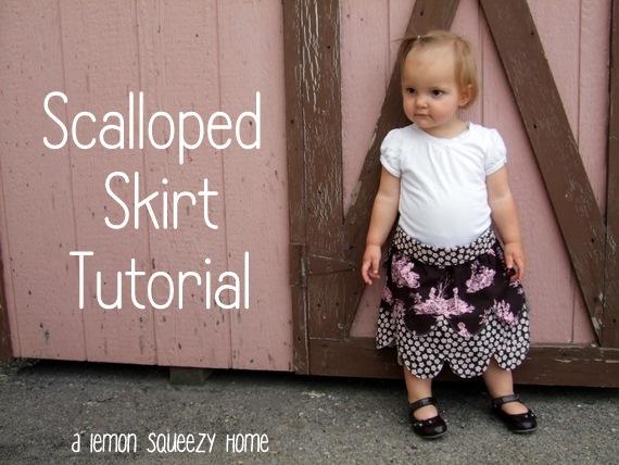 Little Girls Scalloped Skirt size 18 month-2T