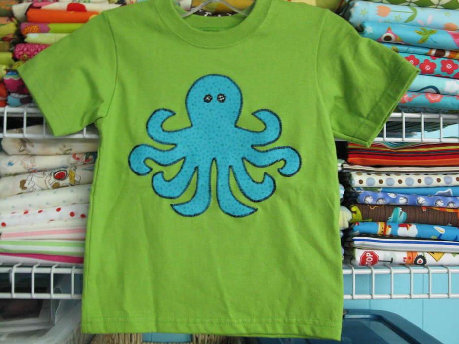 Octopus appliqued shirt