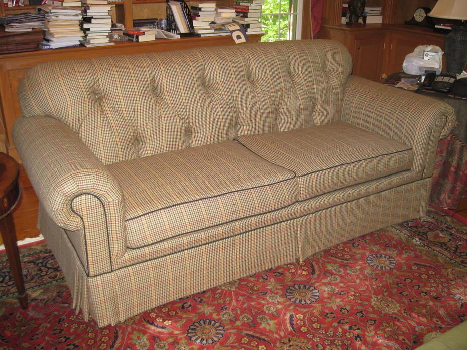 Nancy's Den Sofa - BEFORE