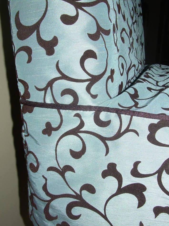 Barstool slipcover closeup