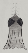 back of simple red carpet dress