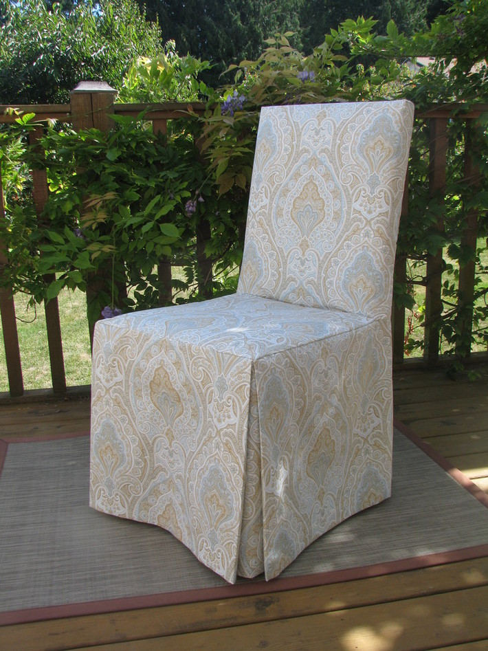 Paisley slipcover for parsons chair