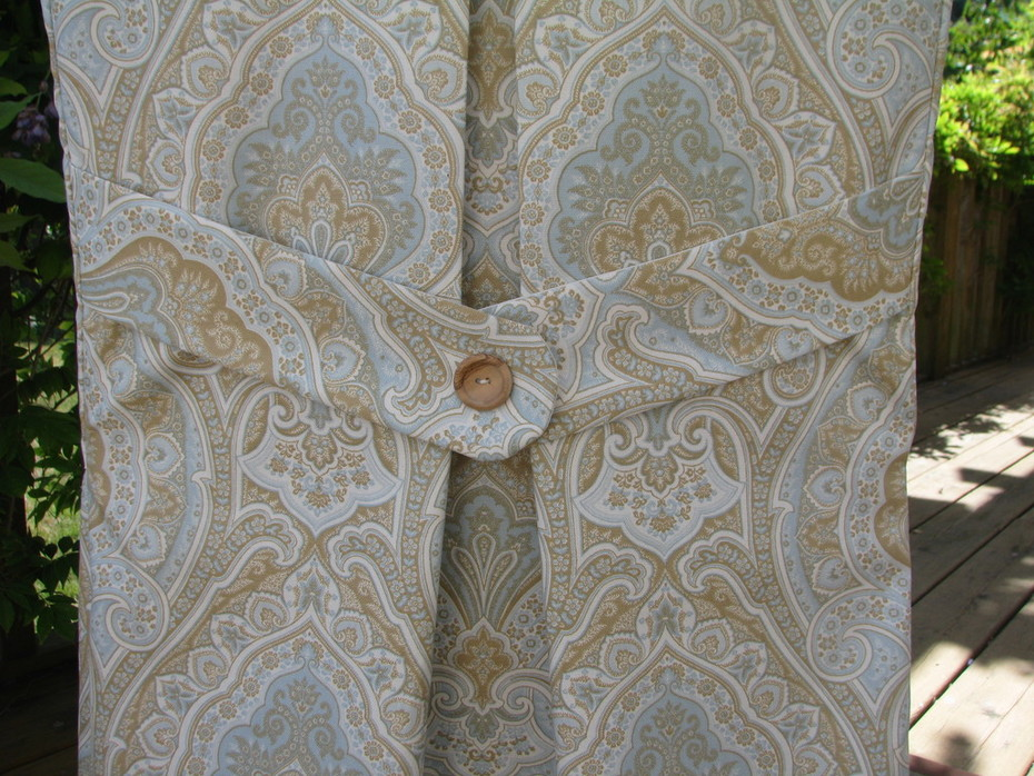 Back detail of paisley slipcover