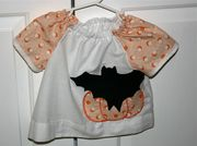 Pumpkin/Bat halloween peasant top