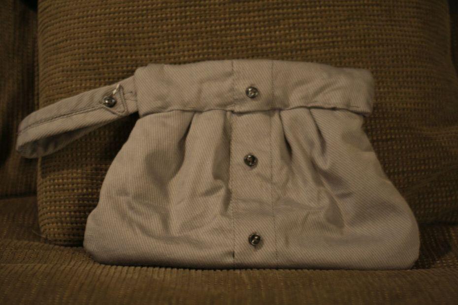 Upcycled Shirt Tuxedo Purse