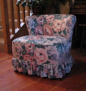 Large Slipper Chair Slipcover Before