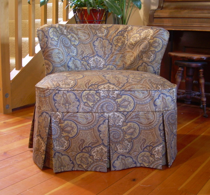 Large Slipper Chair Slipcover After