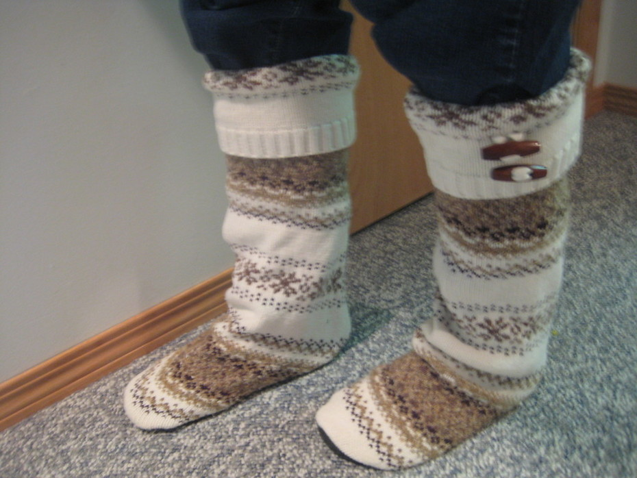 Sweater Boots!
