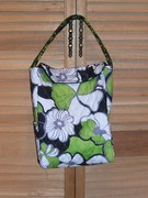 green quilted lunch bag