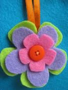 Felt flower door hanging