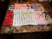 Baby receiving blankets for birthing kits sent to Haiti