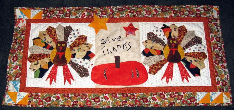 Dresden Thanksgiving Turkeys Wallhanging