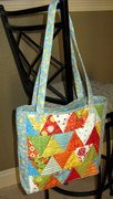 Scrappy Triangles Patchwork Tote Bag
