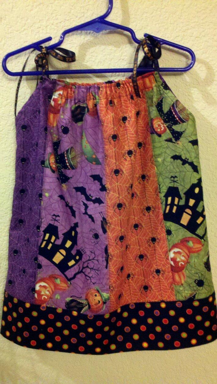 Halloween Pillowcase Fat Quarter Dress1
