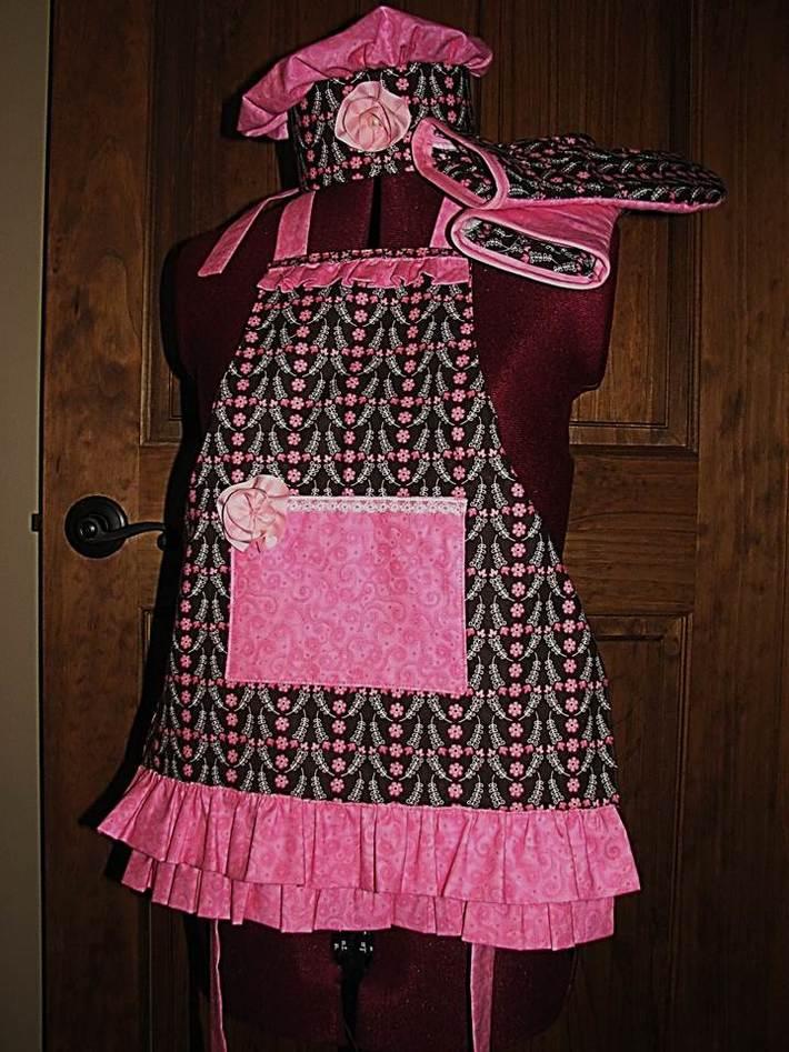 Pink Petals Apron Couture