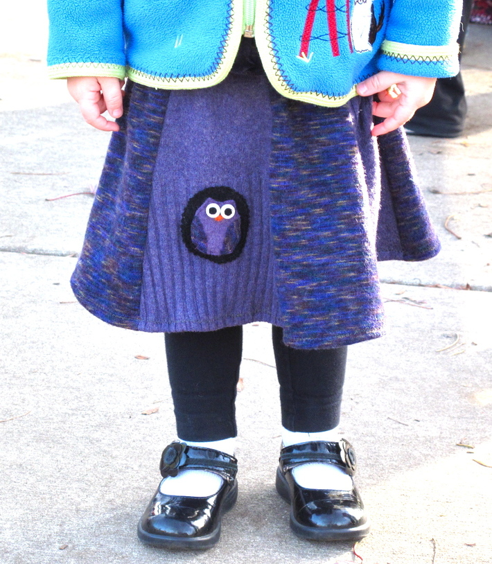 Recycled Wool: Refashioned Owl Skirt Tutorial