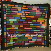 Flying Pterodactyl Quilt Back