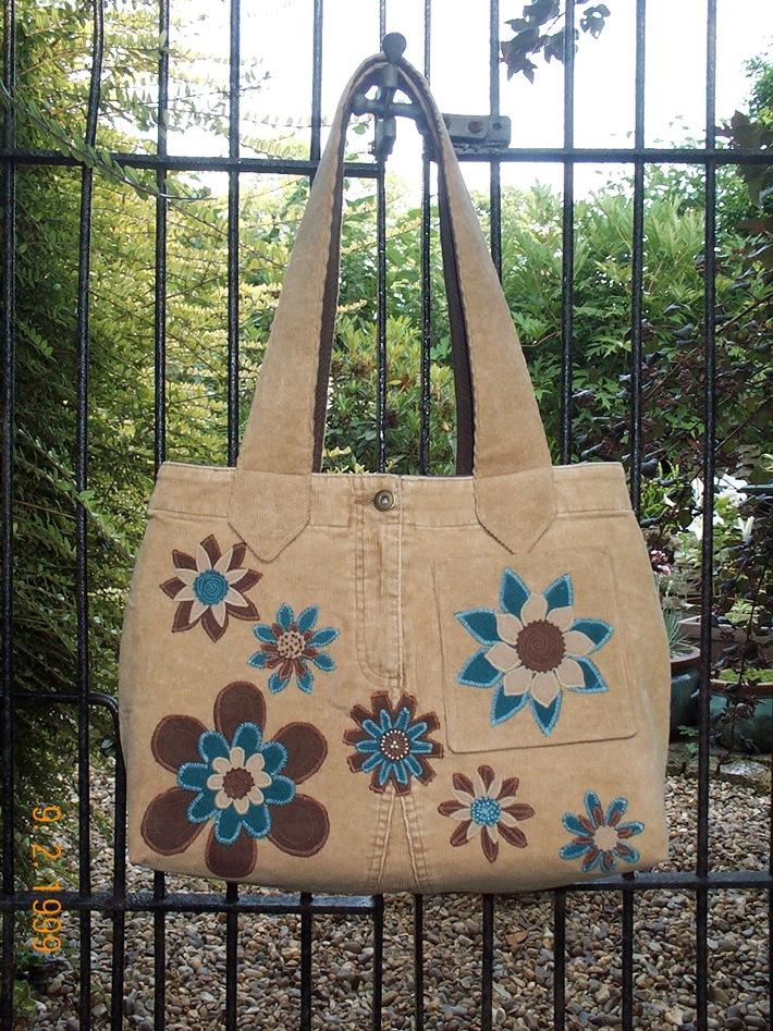 Turquoise & Brown bag