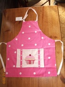 Cup cake on Pink Spotty Apron