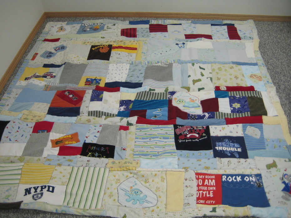 Upcycled Baby Clothes Quilt