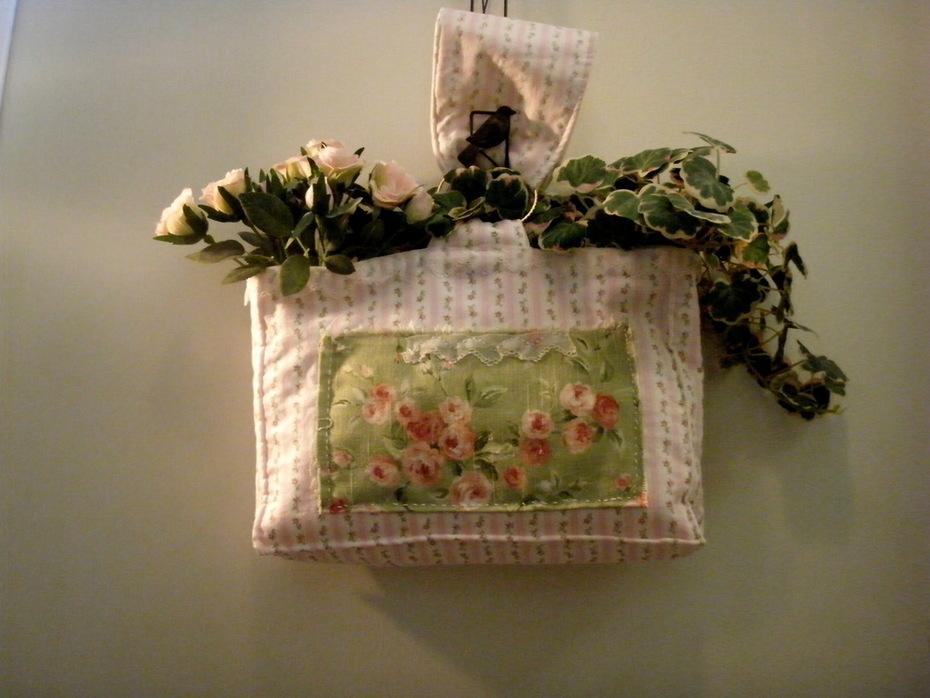 Beautiful Shabby Chic Rose Embellished Tote Bag