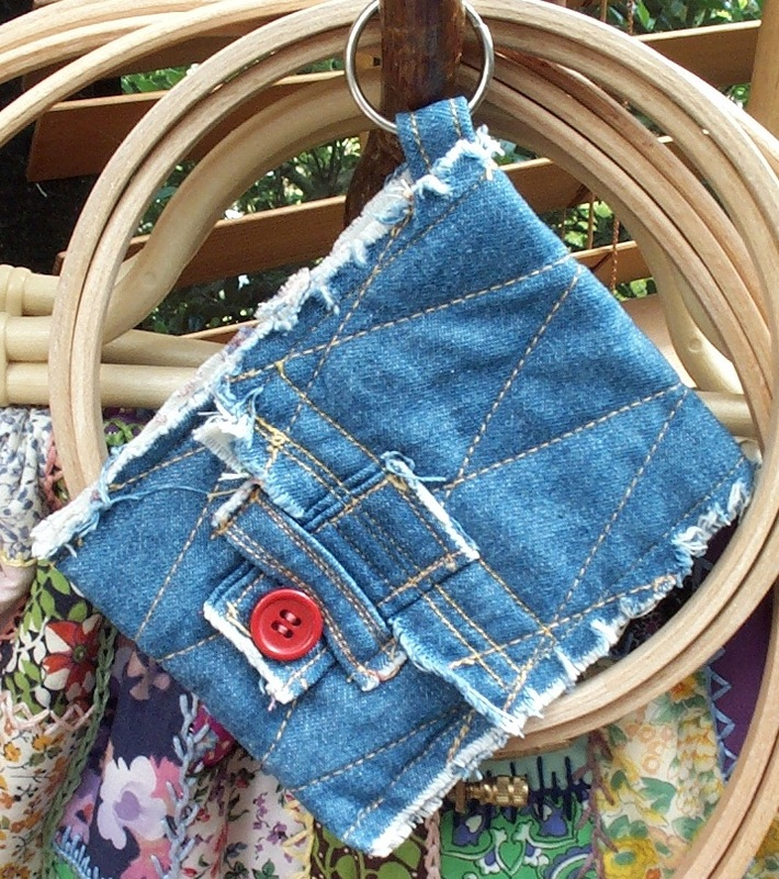 Frayed Denim pouch