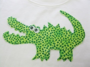 Iron On Appliqued Alligator