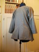 Ladies 1770s wool jacket back