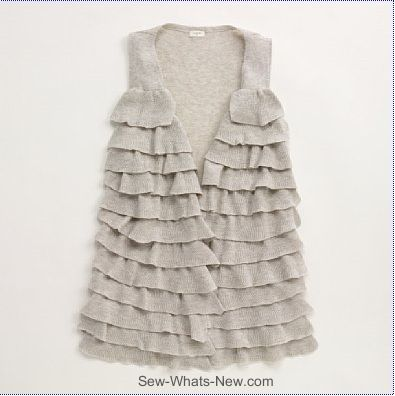 "Ruffled Vest Tutorial by Jessica from ""Me Sew Crazy"""