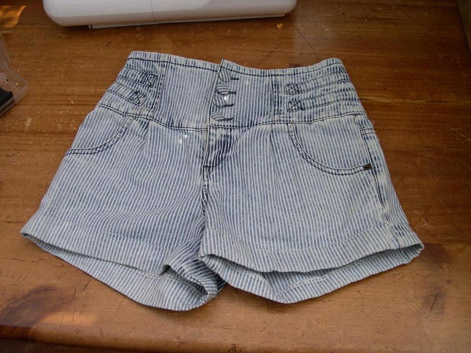 Denim shorts - before conversion