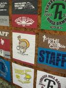 Turkey Hill Bible Camp t-shirt quilt
