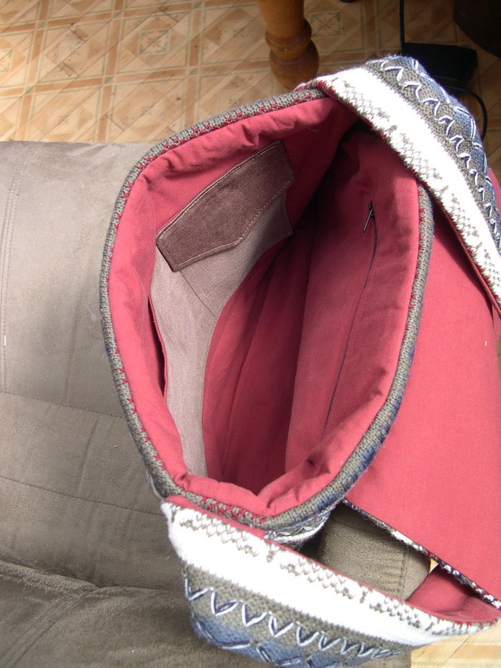 Inside sweater bag