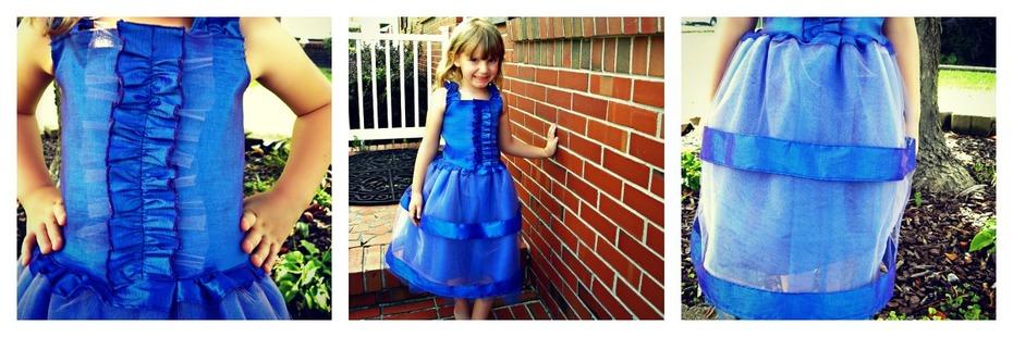 Violets Are Blue Birthday Dress