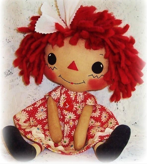 "Sweet Heart Cloth Soft Rag Doll Pattern by ""Oh Sew Dollin"""