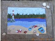 Beach Day Landscape Art Quilt