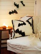 Beginner Halloween Applique Felt Bats Pillow