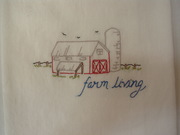 Hand Embroidered Kitchen Towel Farm Living