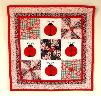 Lady Bug Love Pinwheel Quilt
