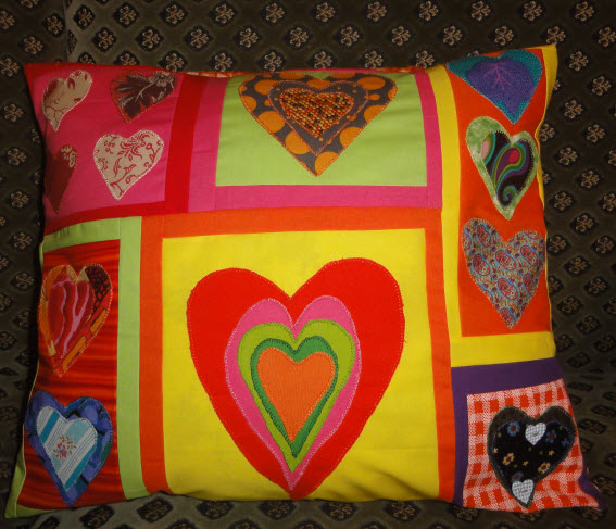 Hearts Pillow 2