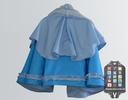 Blue Bow Satin Cape 002