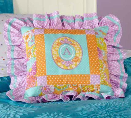 Her Majesty's Monogram Pillow