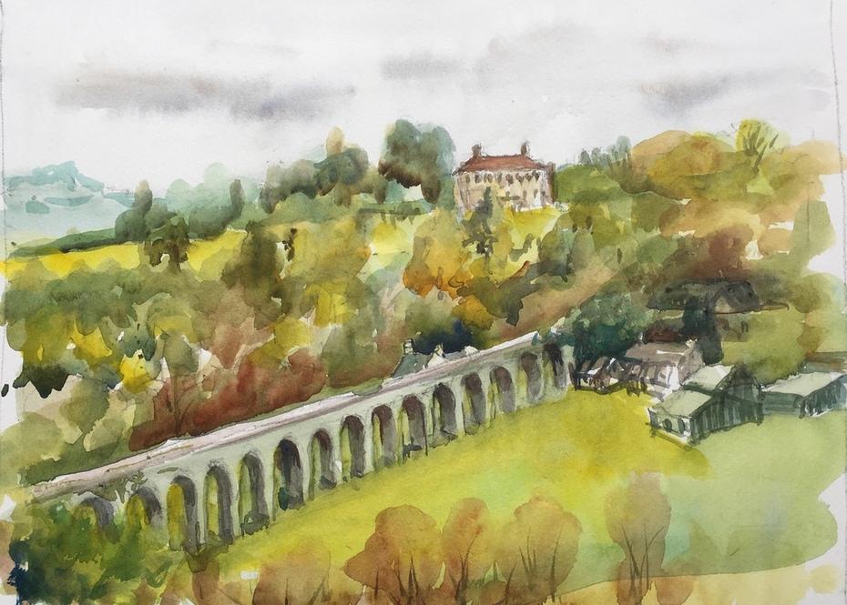 Across the Viaduct, to Borris House