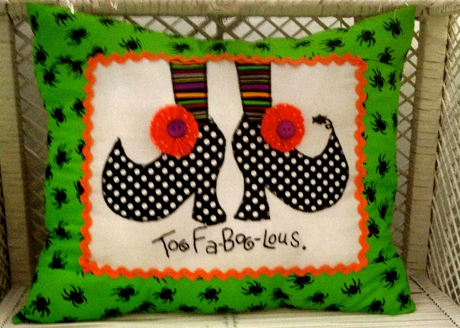 Halloween Witch Shoes Pillow