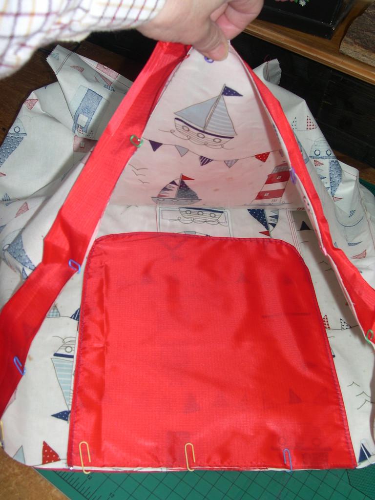 Oilcoth Wheeled Shopping Bag