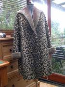 Re-lining my vintage faux leopardskin coat